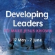 Developing Leaders – Jesus as an example